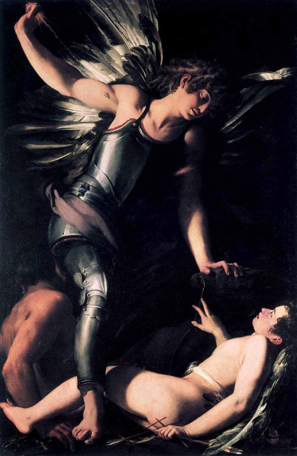 Сияние разлилось бог любви эрот завернутого