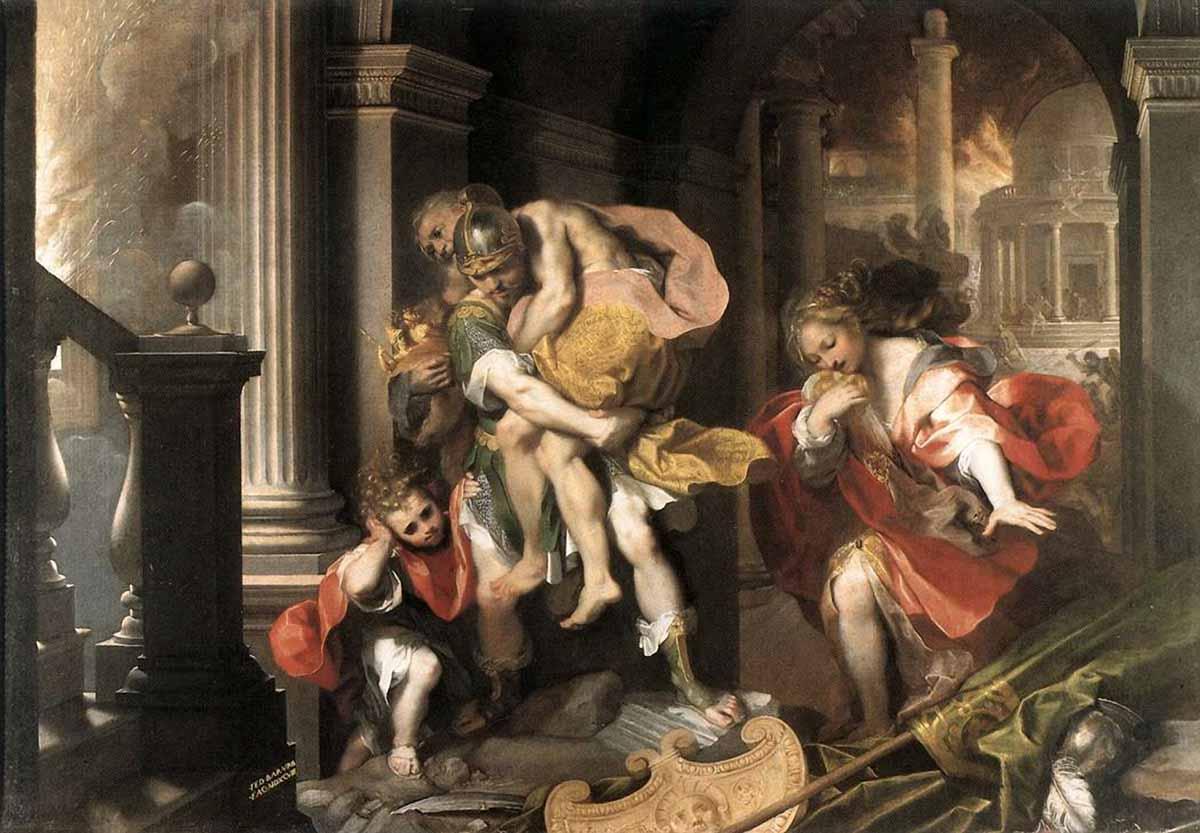 Картинки по запросу эней анхиз и асканий