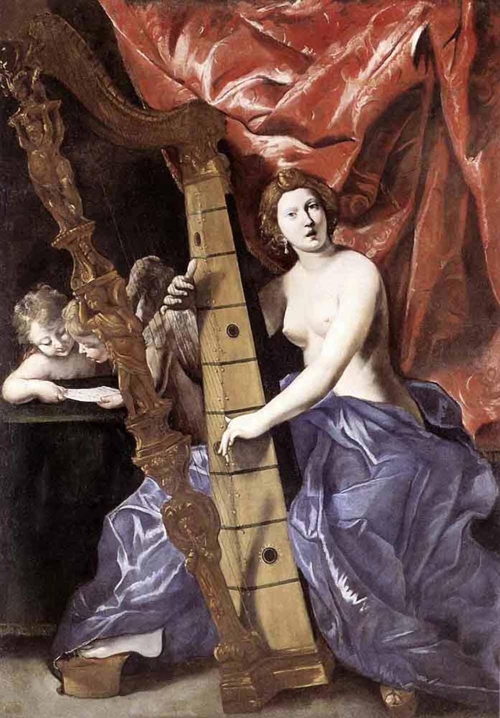 Картинки девушки с арфой древний рим 7