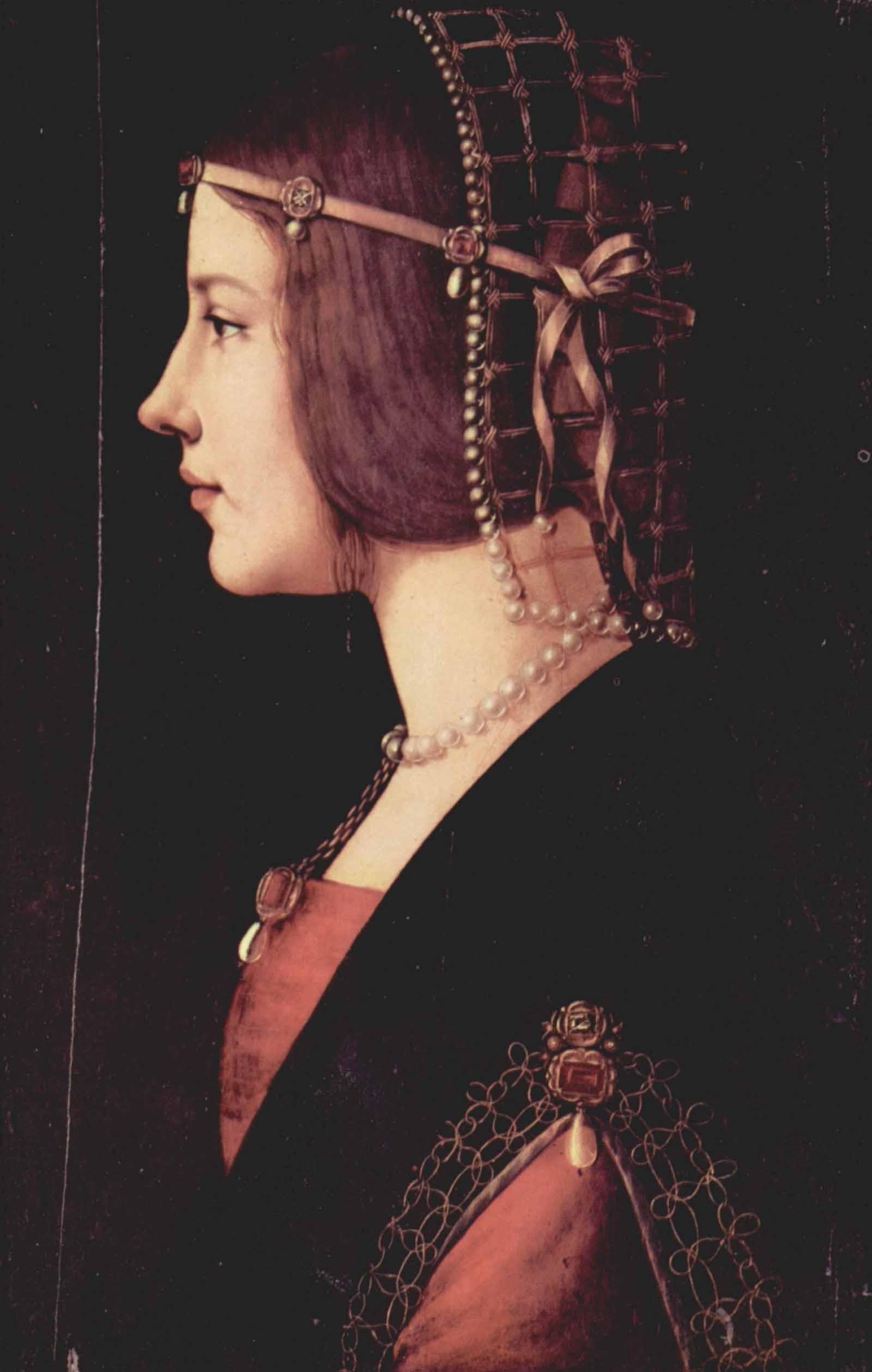 Леонардо да Винчи . Портрет дамы (Беатриче д'Эсте)