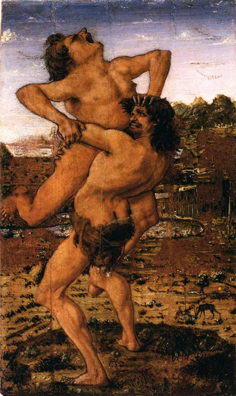 Антонио дель Поллайоло Геракл и Антей - просмотр полного размер